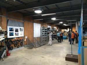 倉庫の屋内風景